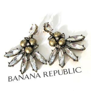 BANANA REPUBLIC crystal fan earrings NWT